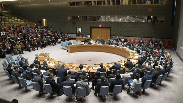 The United Nations Security Council meets on the situation in Iran at United Nations headquarters (AP Photo/Mary Altaffer)