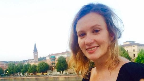 British embassy worker Rebecca Dykes, who was murdered in Beirut, as a prosecutor questioned a suspect (Foreign and Commonwealth Office/PA)