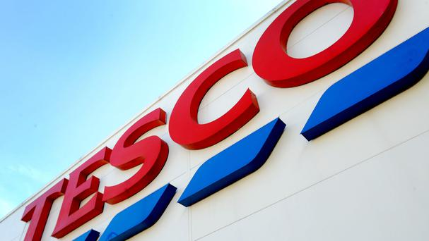 Tesco is the latest supermarket to release Christmas trading figures (PA)