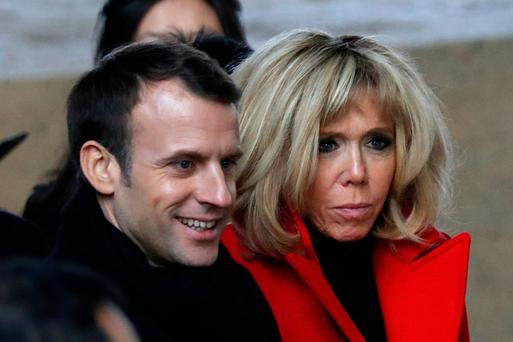 A teenage Emmanuel Macron had a relationship with Brigitte when she was his married teacher. Photo: Reuters