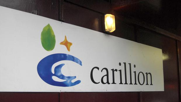 Carillion sign in London (PA)