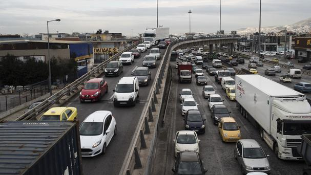 Athenians are without public transport for the day (AP)