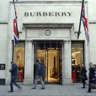 Burberry said group like-for-like stores sales rose by a weaker-than-expected 2% and fell in the UK over the crucial festive quarter
