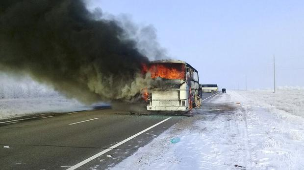 Kazakhstan Bus Fire