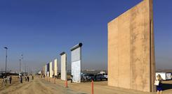 Prototypes of border walls in San Diego. (Elliott Spagat/AP)