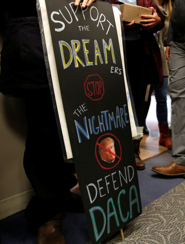 Washington demonstrators call for protection of Dreamers. Photo: Reuters