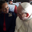 Paula Podest and Carlos Ciuffardi with Pope Francis