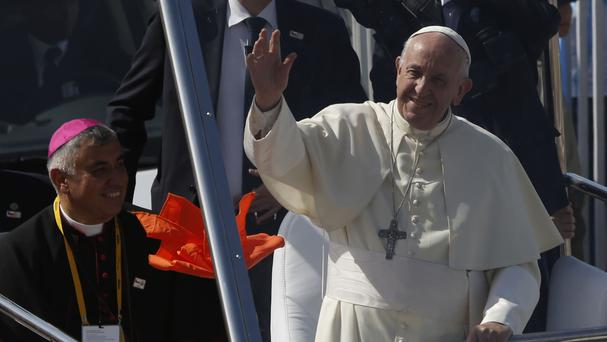 Pope Francis made the remarks during a visit to Chile (Juan Karita/AP)