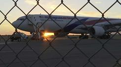 The Malaysia Airlines plane landed at Alice Springs (Australian Broadcasting Corporation/ AP)
