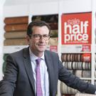 Carpetright chief executive Wilf Walsh at the company's Gerrards Cross store in Buckinghamshire (PA)