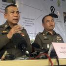Deputy police commissioner Gen Chalermkiat Sriworakhan leads a press conference describing the arrest of a suspected kingpin of wildlife trafficking (Tassanee Vejpongsa/AP)