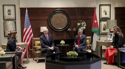 King Abdullah II of Jordan, meets US Vice President Mike Pence (Raad Adayleh/AP)