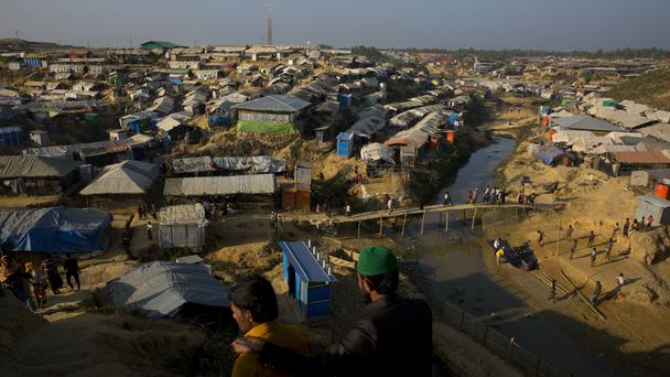 An overview of a camp for Rohingya refugees near Cox's Bazar, Bangladesh (Manish Swarup/AP/PA)