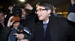 Ousted Catalan leader Carles Puigdemont arrives in Copenhagen (Tariq Mikkel Khan/Ritzau Scanpix via AP/PA)