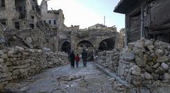 Devastation in the market area of Aleppo's Old City (Mstyslav Chernov/AP)