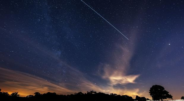 The International Space Station passing over Belvoir Castle (Neil Squires/PA)