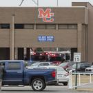 Emergency crews respond after the fatal school shooting in Kentucky (Ryan Hermens/The Paducah Sun via AP)