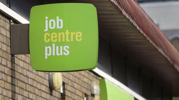 A Jobcentre Plus in east London, as the pound gets a boost from record employment data (PA)
