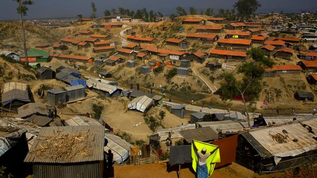 A Rohingya refugee camp in Bangladesh (Manish Swarup/AP)