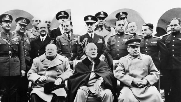 Josef Stalin (right) with Winston Churchill and Franklin D. Roosevelt at Yalta (PA)