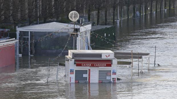 The banks of river Seine are flooded in Paris (AP/Michel Euler)