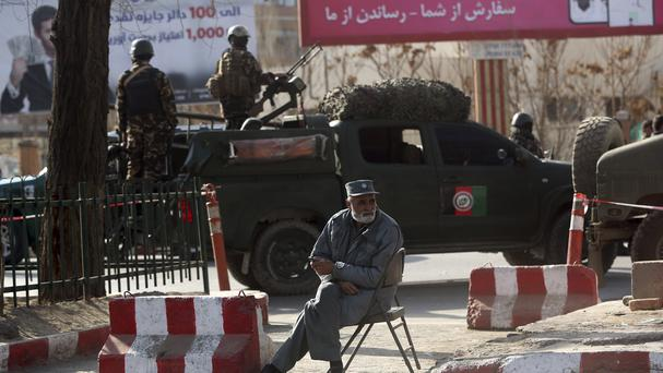 The site of a deadly suicide attack in Kabul(Massoud Hossaini/AP)