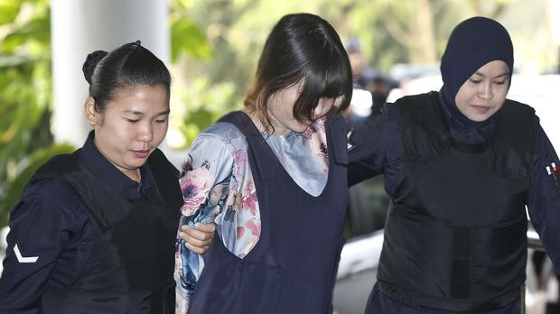 Doan Thi Huong arrives for court hearing at Shah Alam court house (AP)