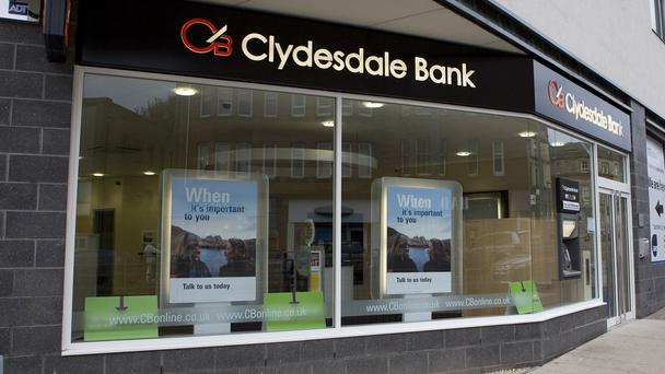 Clydesdale has posted a rise in first quarter mortgage lending (Clydesdale Bank/PA)