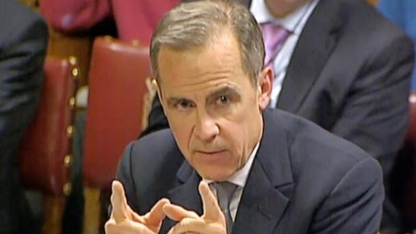 Mark Carney, Governor of the Bank of England, giving evidence to the House of Lords Economic Affairs Committee at Westminster (PA)