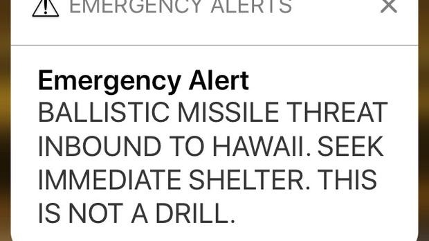 The alert was sent out across the US state (AP)