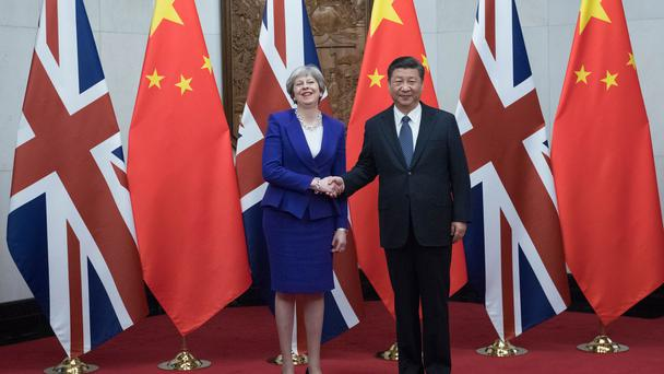 British Prime Minister Theresa May leads trade delegation to China