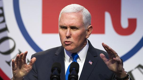 Mike Pence has travelled to Asia. (Cliff Owen/AP)