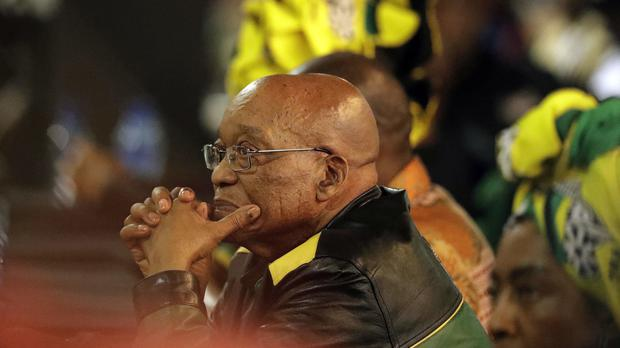 Jacob Zuma has faced intense pressure to stand down (AP)
