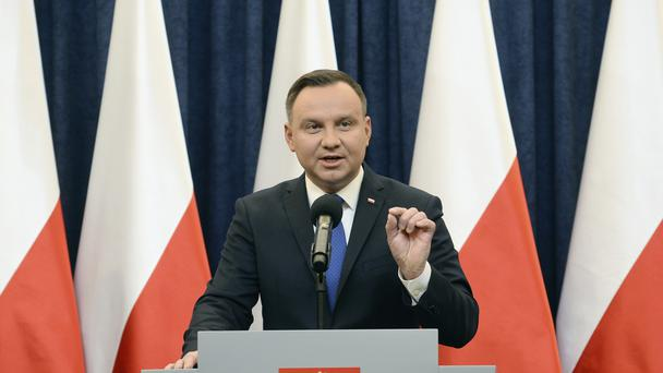 Mr Duda has left the way clear for the legislation to be amended (AP)