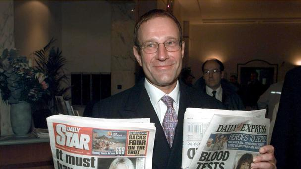 Richard Desmond of the Northern and Shell company at the headquarters of Express Newspapers in central London (PA)