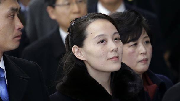 Kim Yo Jong is the first member of her family to visit South Korea since the 1950-53 Korean War (AP)