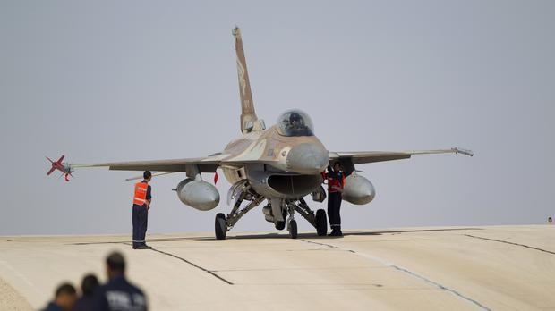 An Israeli air force F-16 jet (Ariel Schalit/AP)