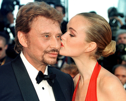 Johnny Hallyday with his last wife, Laeticia: he left his entire estate to her