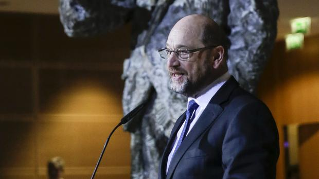Martin Schulz announces his resignation as Social Democratic Party chairman (AP Photo/Markus Schreiber)