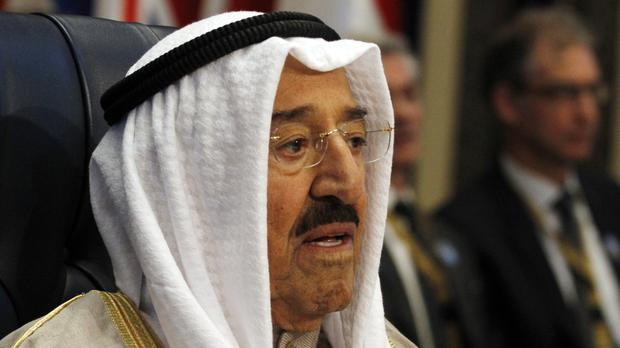 Kuwait's Emir at the donors' conference (Jon Gambrell/AP)