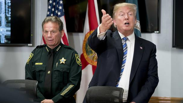 Donald Trump has criticised the FBI following the Florida school shooting (AP Photo/Andrew Harnik)