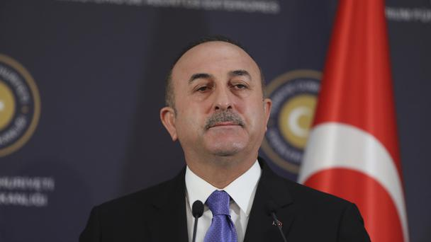 Turkey's foreign minister Mevlut Cavusoglu issued a stern warning (AP)