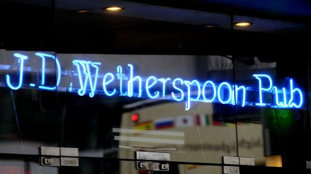 JD Wetherspoon ended its contract (PA)