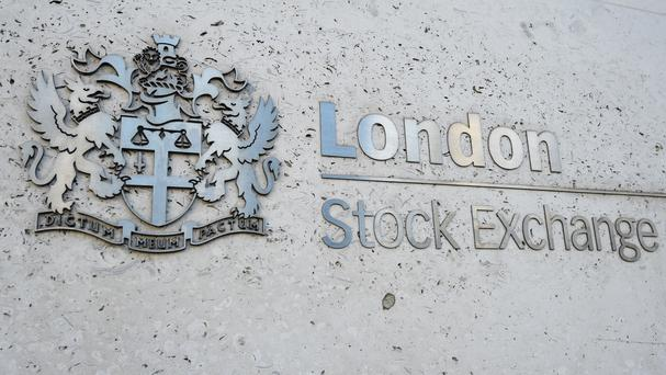 A view of the London Stock Exchange sign in the City of London (PA