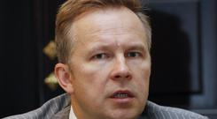 File photo from 2007 of Governor of the Bank of Latvia Ilmars Rimsevics (Roman Koksarov/AP