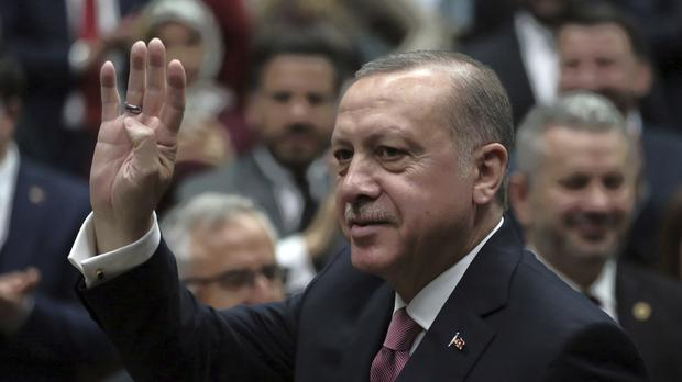 Turkey is carrying out an offensive against Syrian Kurdish fighters in Afrin (AP)