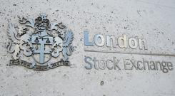 London Stock Exchange sign in the City of London (PA)