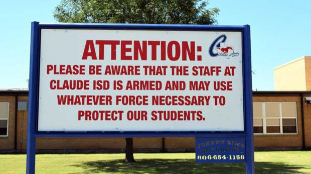 Some schools already have armed teachers among their staff (Creede Newton/Amarillo Globe-News via AP)