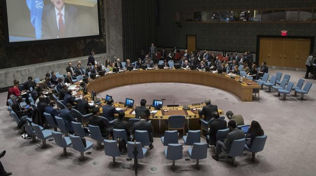 The UN is due to vote on a ceasefire (Mary Altaffer/AP)