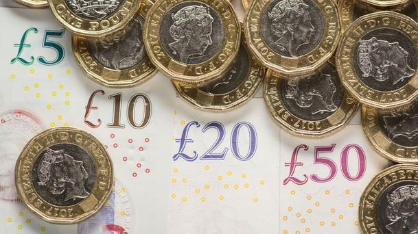 A picture of money, as Provident Financial reportedly eyes a £500 million rights issue (PA)
